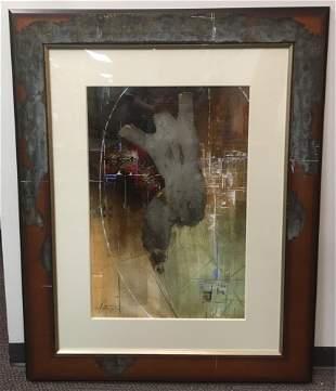 Original Fine Oil Abstract by Sebastian Alterera one of