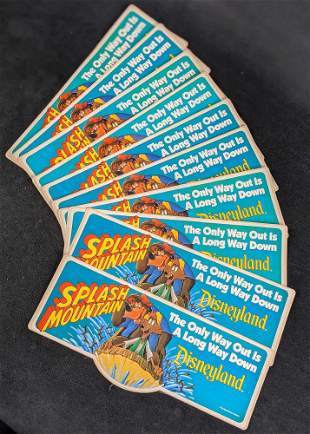 Vintage Disneyland Splash Mountain Bumper Stickers I