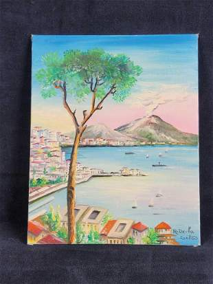 Original Landscape Painting By R. De La Sota