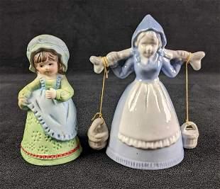 Ceramic Girl Figurine Bells