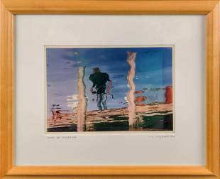 Framed M R Smilack Photo Man Of Menemsha X1