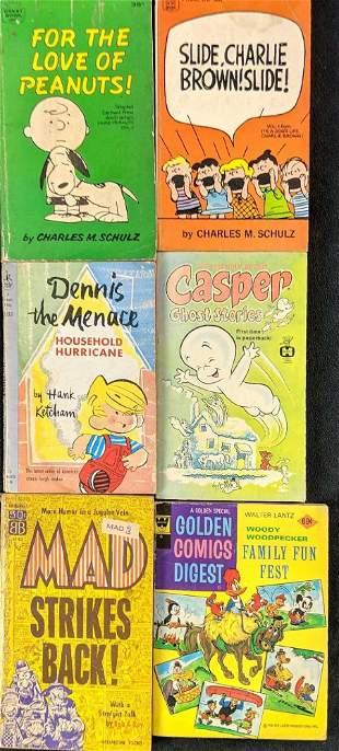 Six Vintage Kids Comic Strips Books Charlie Brown