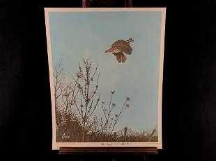 "Vintage Sighed Wildlife Artist Charles T Crume ""The"