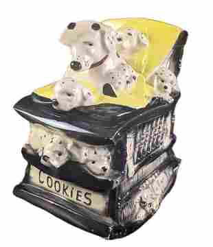 Vintage McCoy Dalmatian Dogs Rocking Chair Cookie Jar