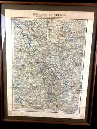 Verdun WWI Map 1914-1918