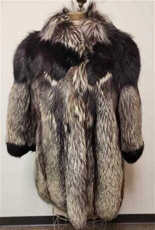 Olivier Furs Canadian Silver Fox Fur Coat