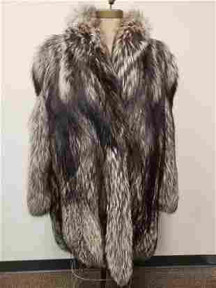 Vita Furs Silver Fox Fur Coat