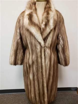 NU Rosenthal Geoffrey Beene Stone Marten Fur Coat