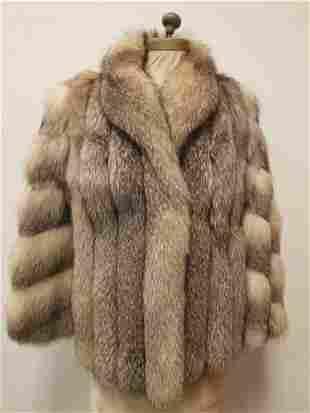 Silver Fox Pelted Short Fur Coat