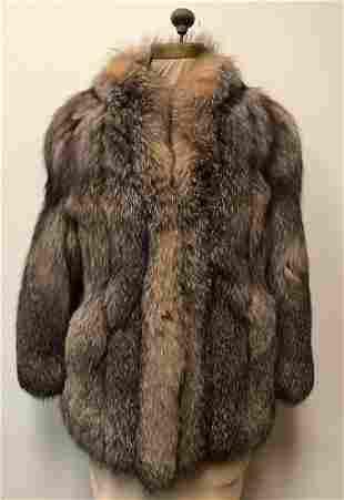 Crystal Fox Sterling Fur Coat