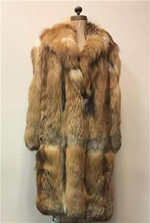 Red Fox Fur Coat Jacket Vintage Fashion Baroque