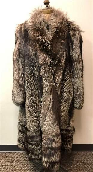 Fox Fur Silver Coat Full Length