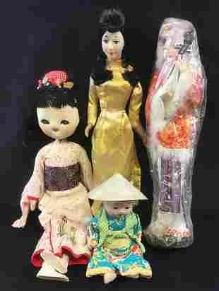 Set of 4 Asian Dolls