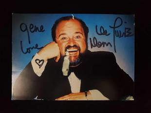 Autographed photo of Dom Deluise and Still Photo
