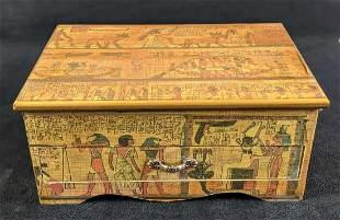 Egyptian Themed Jewelry Nicknack Box