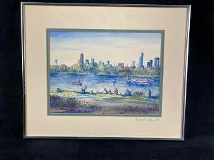 Raymond Chen Watercolor 1988
