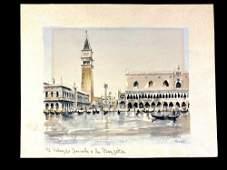 Herbelot Watercolor Copy of Venice Harbor