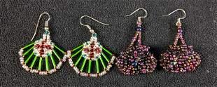 Micro Beaded Earrings Unique Earrings Colorful