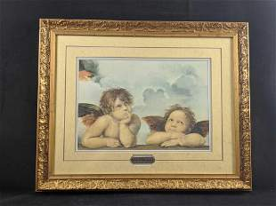 Framed Detail Of Two Angels From Sistine Madonna