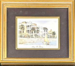 Along The Battery Framed Print By Edward Emerson