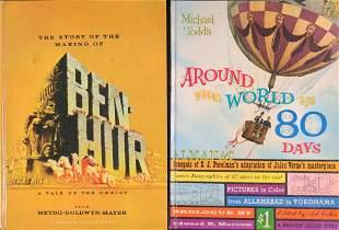 Vintage Movie Books Ben Hur Around The World 80 Days
