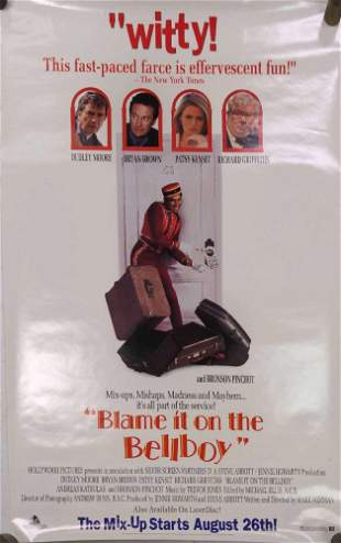 Blame It On The Bellboy Original Video Store Poster