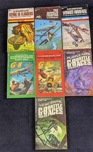 Vintage Lot Of Seven Air Combat Adventure Softcover