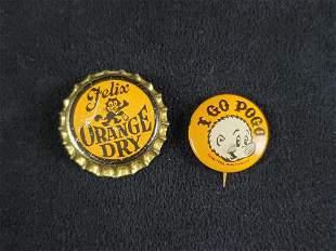 Vintage Felix Orange Dry and I Go Pogo Lot