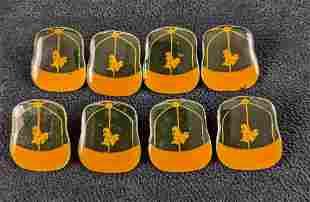 Eight Vintage 80s Oakland Athletics Cap Pins MLB
