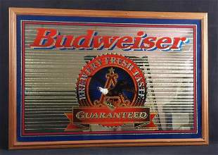 Budweiser Brewery Fresh Taste Guaranteed Mirror