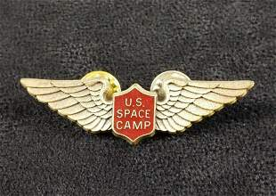 Vintage NASA Space Camp Wing Pin Lapel Tie Tack B
