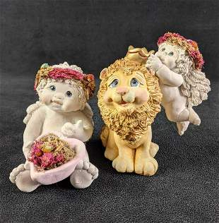 """Two Dreamsicles Figurines Lion and baby (1) """"Hearts and"""