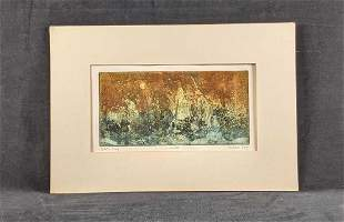 """Signed A.P. Abstract Print by Ruth Rodman """"Creation"""""""