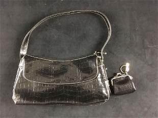 Liz Claiborne First Issue Black Handbag with Matching