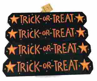 4 Cute Trick-Or-Treat Signs