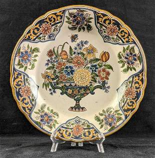 Decorative Painted Plate Floral