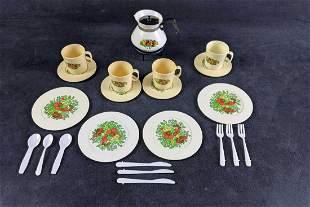 Vintage Toy Chilton Tea Set Aluminum Specialty