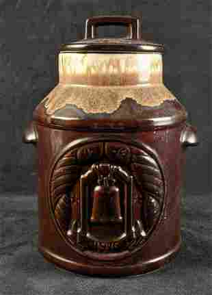 Vintage Pottery Jar McCoy Pottery Liberty Bell Jar