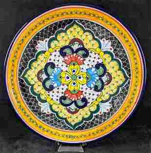 Mexican Pottery Decorated Painted Plate
