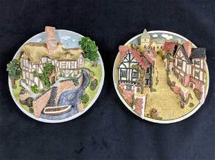 Set Of Two David Winters Collector 3D Plates