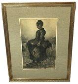 Turner Wall Accessory Art Print, Peasant Woman