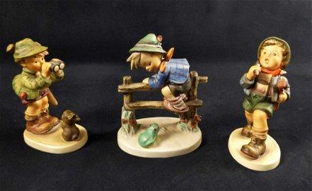 Vintage Goebel Hummel Boy Figurines Lot Of Three