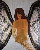 """Original Acrylic On Canvas """"Maariposa"""" Abstract"""