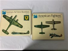 """2 Hardcover Volumes """" American fighters of WW2 Vol. 1"""""""