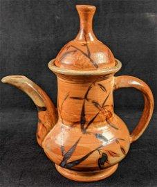 Asian Style Glazed Earthenware Teapot