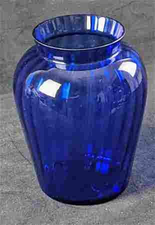 Vintage Cobalt Blue Urn Vase