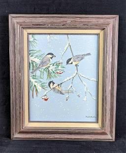 Carolina Chickadee's in the Winter by Karl Karalus