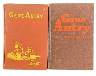 Two Vintage Gene Autry Singing Cowboy Hardcovers