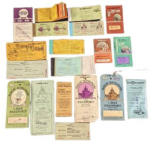 Vintage Lot Of Walt Disney World Passes And Tickets