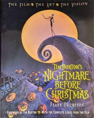 Disney Tim Burton's Nightmare Before Christmas Art &